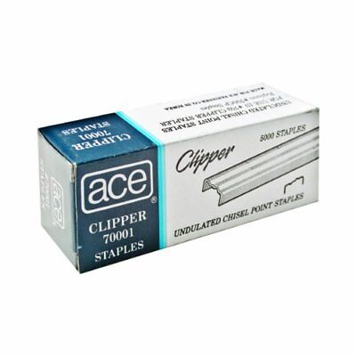 5,000 Pieces ACE Undulated Clipper Staples ACE70001 For ACE07020 For Office
