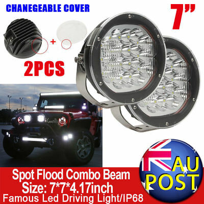 "2X7""inch 3600W CREE Spot Flood Beam LED Driving Lights VS HID Replace 4WD Jeep"