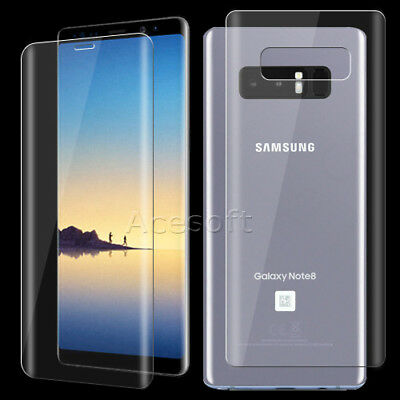 For Samsung Galaxy Note 8 SM-N950U Front Back Tempered Glass Screen Protector 9H
