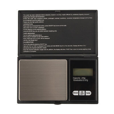 Electronic Mini Digital Pocket Jewellery Weighing Scale with Back-lit 100g/200g