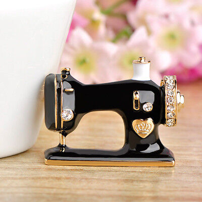 Gifts For Suit Pin Black Jewelry Enamel Brooch Sewing Machine Brooch