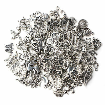 Wholesale 100pcs Set Bulk Lots Tibetan Silver Mix Charm Pendants Jewelry DIY