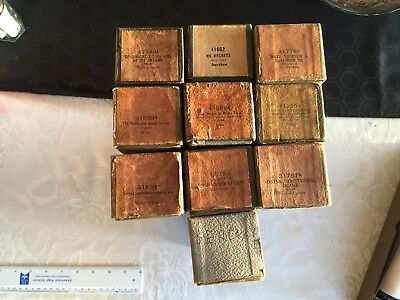 10 Antique Pianola Rolls - See Photos for Detail