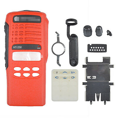 Brand New Red Front Case Housing Cover For Motorola HT1250 Portable Radio