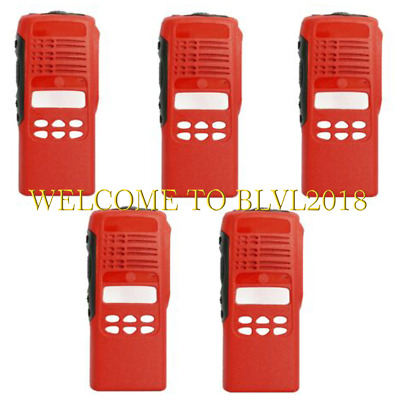 5PCS Brand New Red Front Case Housing Cover For Motorola HT1250 Portable Radios