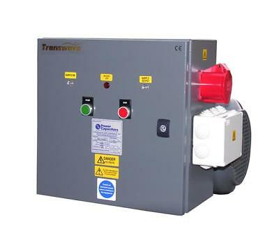 TRANSWAVE Rotary Converter RT22 - 30hp/22kW - Single to 3-phase 240v to 415v
