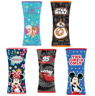 Safety Belt Pads Car Seat Belts Covers for Kids Genuine Disney Brand New