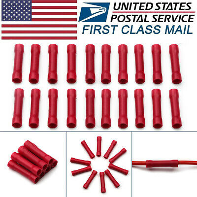 150PC Electrical Wire Butt Connector Blue 16-14 AWG Gauge Splice Cable Terminals