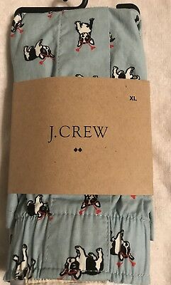 Boston Terrier Boxer Shorts J Crew  - SZ Extra Large XL MENS UNDERWEAR BOXERS