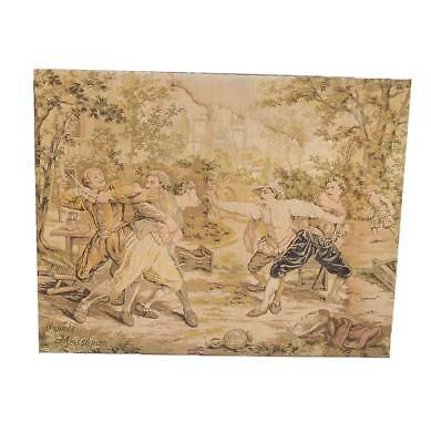 Antique Stretched French Tapestry