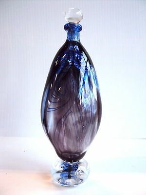 Arte Cristal Original -M.parot- /m.parot-Large One Of A Kind Vase-Signed & Dated