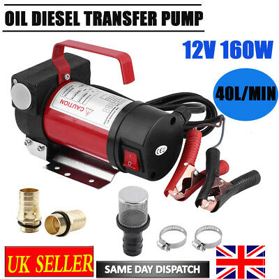 Portable 12V Diesel Fluid Extractor Electric Transfer Pump Car Fuel Self-priming