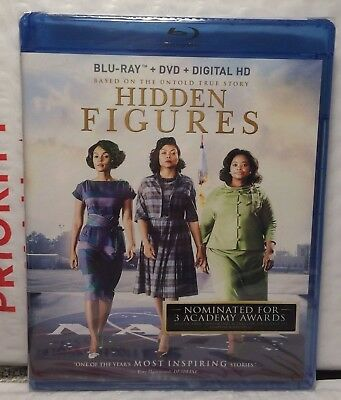 New Hidden Figures On Blu-Ray+Dvd+Digital Hd Ultraviolet! Factory Sealed