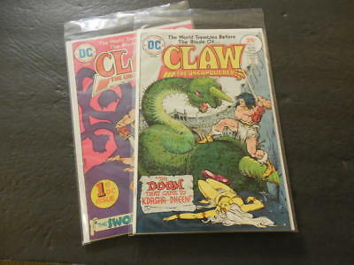 2 Iss Claw The Unconquered #1-2 Jun, Aug 1975 Bronze Age DC Comics    ID:27153