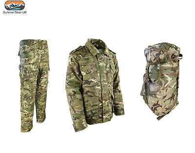 BOYS GIRLS CHILDRENS ARMY OUTFIT TROUSERS JACKET KIDS FANCY DRESS CAMO PRESENT