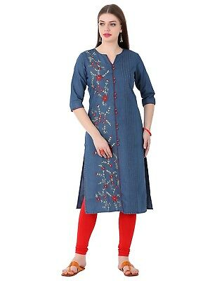 Indian Bollywood New Style Summer Collection Lagi Denim Women Ethnic Kurti