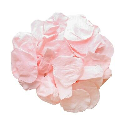 Pink champagne biodegradable rose petals for wedding confetti / decoration
