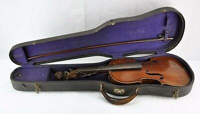 Antique 1884 German Violin with label, Full size 4/4  Length . V3.(BI#MK/171103)