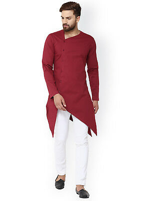Handmade Men Kurta Shirt Indian Man's Cotton Kurta 100% Plus Size 20 Color S 7XL