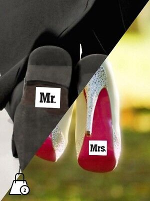 Stickers Mr e Mrs 2 pezzi - Martha's Cottage - matrimonio scarpe sposi wedding