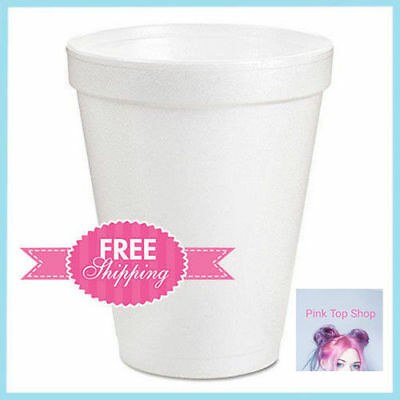 1000 Pack Drinking Cups Styrofoam Hot Cold Drink Hosting Party Birthday Office