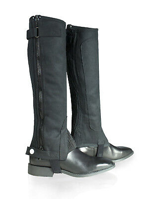 Horze Ladies Amara Half Chaps - horse riding gaiters/half chaps black All Sizes