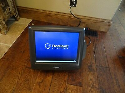 Radiant Systems P1520 POS Touch Screen Cash Terminal With Credit Card Reader.