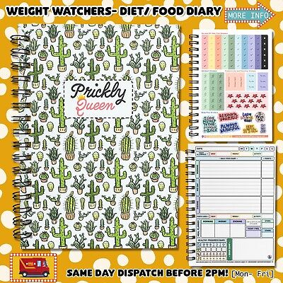 3 Mth Diet Food Diary WEIGHT WATCHERS Compatible Journal Planner Book NWW46-2018