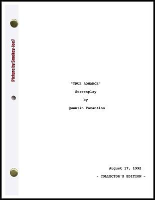True romance the movie script screenplay 895 picclick true romance the movie script screenplay fandeluxe Image collections