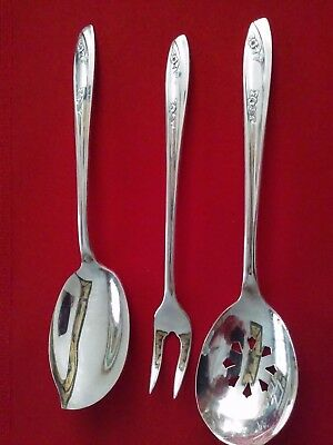 WM Rogers InternationalSilver Lady Fair -Sugar Sifter, Jelly Server, pickle fork