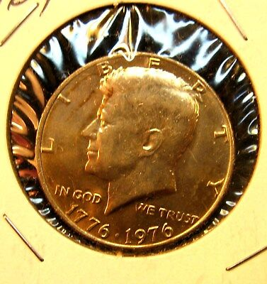 1976 - P   BU    Kennedy  Half  Dollar   Clad   Removed  from mint set