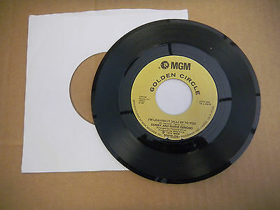 DONNY MARIE OSMOND morning side of the mountain/i'm leaving it all up to you 45