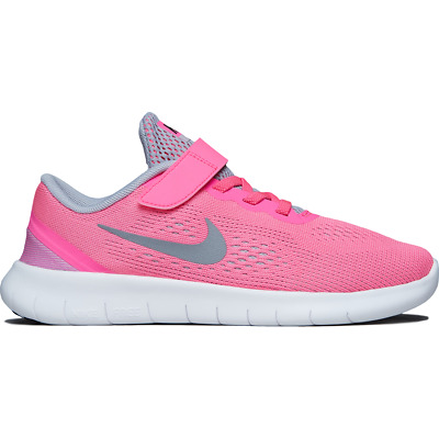 Nike Free RN (PSV) 833995-600 Pink Blast White Silver Youth Girl's Running Shoes