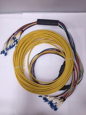100 Ft Micro Armored Fiber Optic Plenum Cable SM OS2 24 Strand LC 3mm Breakout