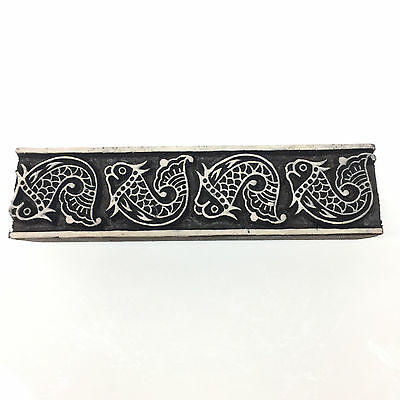 New  Beautiful Unique Hand Crafted Customized Fish Design Wooden Block Stamp