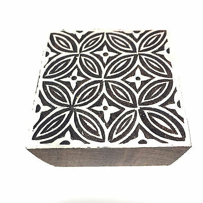 New  Beautiful Unique Hand Crafted Customized Flower Design Wooden Block Stamp