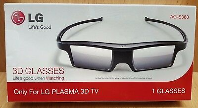 BRAND NEW - LG AG-S360 2013 Active Shutter Plasma 3D Glasses