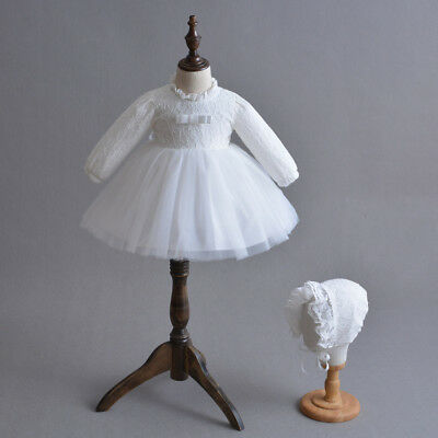 Gorgeous Baby Girl Christening Dress Embroidery Baptism Gown Toddler 3-24 Months