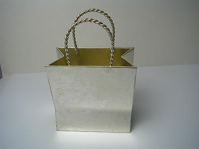"Silverplate Silver Plated Cigarette Holder Card Holder ""shopping Bag"" Souvenir"