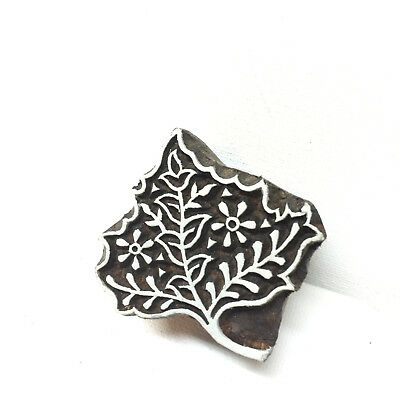 New  Beautiful Hand Crafted Customized Mehendi Paisley Leaf Wooden Block Stamp