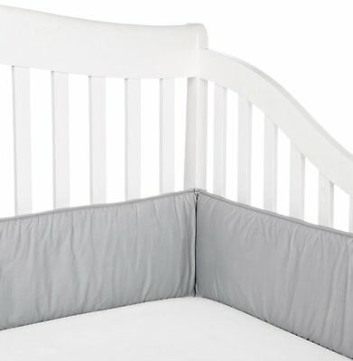 OpenBox TL Care 100% Cotton Percale Crib Bumper, Gray