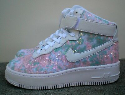 sneakers for cheap 84cdf b5bed Like us on Facebook · Nike Airforce 1 Upstep HI LX Summer Shine Women s  Shoes 898422-100 - SZ 8