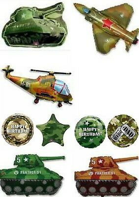 Army Military Camo Camouflage Balloons Can Be Personalised Party Ware Decoration