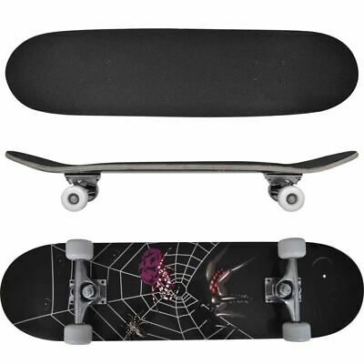 "Oval Shape 8"" 9-Ply Maple Skateboard - Spider"