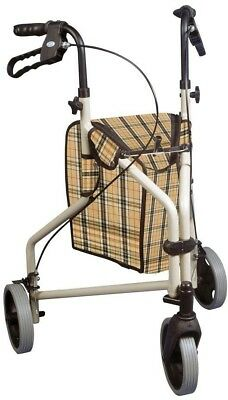 3-Wheel Rollator Walker Winnie Lite Supreme Indoor Outdoor Smooth Ride Pouch