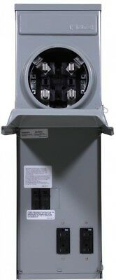 100 Amp Ringless Metered Temporary Power Box with GFCI Top Feed Surface Mount