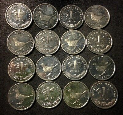 Old CROATIA Coin Lot - 16 High Quality Coins - Scarce Type - KUNA -FREE SHIPPING
