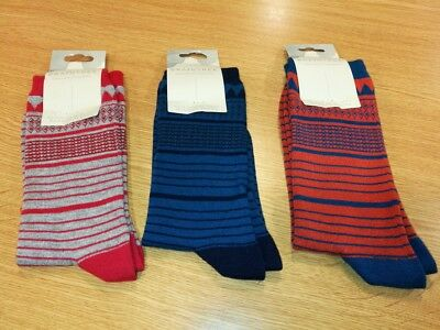 Thought (Braintree) Bamboo Mens' Socks - Stripes - Spm199 - Bnwt