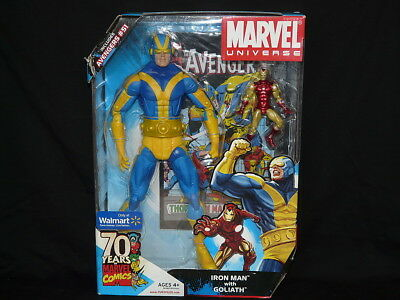 Marvel Universe GOLIATH blue variant + IRON MAN gold excl. Wal-Mart figures,ovp.