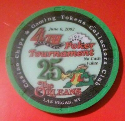 2002 The Orleans Casino Las Vegas, Nv. $25.00 Ncv Chip Great For Any Collection!